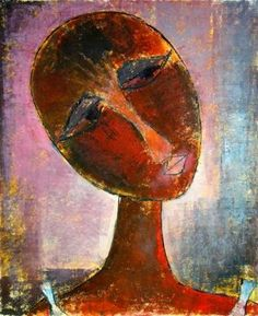Artist: Muraina Oyelami Medium: Oil on paper Theme: Hope Size: 64 x 52 cm #african #art