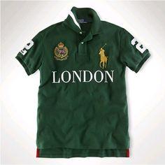 3a66a6e213f Ralph Lauren Men LONDON Green Gold Big Pony Polo http   www.ralph