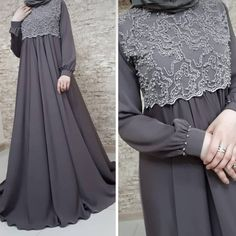 Image may contain: one or more people and people standing Hijab Gown, Hijab Evening Dress, Hijab Style Dress, Mode Abaya, Mode Hijab, Abaya Fashion, Fashion Dresses, Moslem Fashion, Dress Pesta