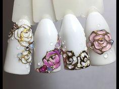 СКАЗОЧНЫЕ цветы ЦВЕТЫ на ногтях Дизайн ногтей гель лаком Nail Design Shellac - YouTube