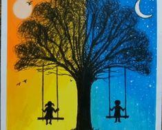 Oil Pastel Art For Beginners Easy ; Oil Pastel Art oil pastel art for beginners easy \ oil pastel a Oil Pastel Drawings Easy, Oil Pastel Paintings, Oil Pastel Art, Cool Art Drawings, Colorful Drawings, Easy Drawings, Oil Pastels, Simple Drawings For Kids, Scenery Drawing For Kids