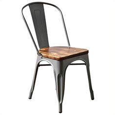 Bowery Hill Stacking Dining Chair in Sliver (Set of 2)