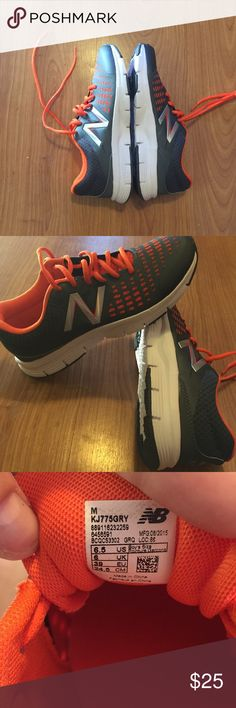 Boys New Balance sneakers These are grey and orange brand new no box sneakers . They fit a women's 8 . New Balance Shoes Sneakers