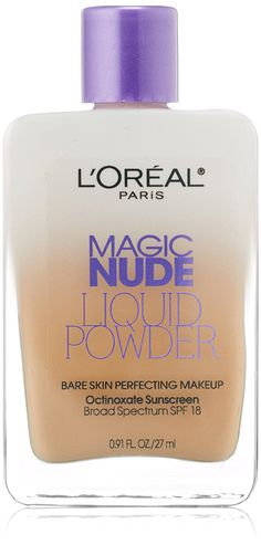 L'Oreal Paris Magic Nude Liquid Powder Bare Skin Perfecting Makeup SPF 18, Creamy Natural, 0.91 Ounces * You can find more details by visiting the image link.