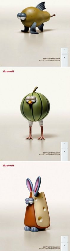Don't let smells mix / #advertising about Brandt refrigerator #pub #jetudielacom