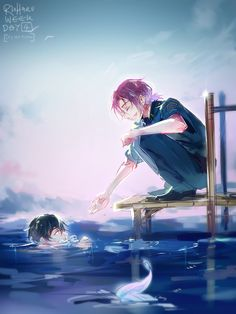 Rin and Haru (These colors are beautiful!)