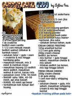Carrot cake gebu Baking Recipes, Cookie Recipes, Dessert Recipes, Desserts, Mini Cakes, Cupcake Cakes, Cupcakes, Resep Cake, Asian Cake