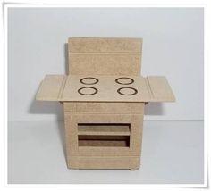 Miniatura feita em mdf. Para decoração de cenarios e/ou casa de boneca. R$ 4,10