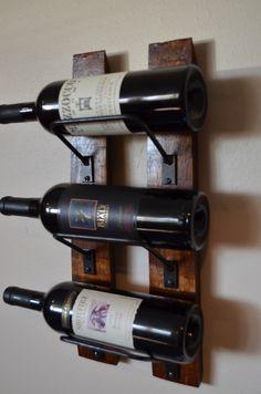 Wine Rack Mini, 3 bottle wine rack made from reclaimed wood .- Wine Rack Mini, 3 bottle wine rack made from reclaimed wood wine Wine Rack Mini 3 bottle wine rack made from reclaimed wood Unique Man Cave Ideas, Rustic Wine Racks, Wine Stains, Bottle Wall, Wine Rack Wall, California Wine, Wine Stoppers, Wine Bottle Crafts, Wine Storage
