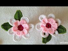 Crochet Jewelry Patterns, Crochet Flower Patterns, Baby Knitting Patterns, Crochet Designs, Irish Crochet, Crochet Baby, Knitted Flowers, Simple Flowers, Crochet Fashion