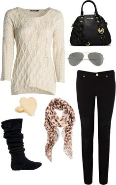 """Cream"" by pandastyle-821 on Polyvore  Wear something like this in plus size."