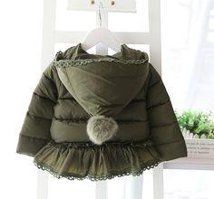 Детские куртки осень-зима из Китая :: 2015 года Новая зимняя одежда девочек толстой мягкой хлопчатобумажной одежды ребенка вниз хлопка мягкие пальто женщин детей корейской версии стеганые куртки.