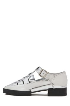Jeffrey Campbell Vecht Fisherman Flats in Metallic Silver Mirror Spring Shoes, Summer Shoes, Jeffrey Campbell, Flat Shoes, Motto, Cute Outfits, Metallic, Fancy, Flats