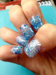 Blue Nails For Formal!!!