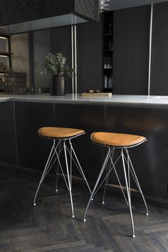 Wire Bar Stool in a Kitchen by Boffi - Overgaard & Dyrman