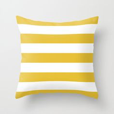Stripes Pillow Cover - Striped Pillow - Mustard Yellow and White Stripes Pillow Cover - Modern Throw Pillow - Home Decor - By Aldari Home by AldariHome on Etsy