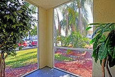 Private screened-in patio Screened In Patio, West Palm Beach, Gated Community, Ceiling Fan, Apartments, Lawn, Floor Plans, World, Enclosed Patio