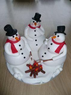 Snowman Fire Cake