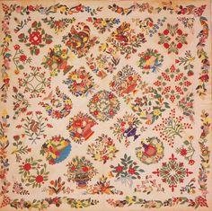 Baltimore Album Quilt, 1845. Made for Eleanor Gorsuch. Glencoe, Maryland.