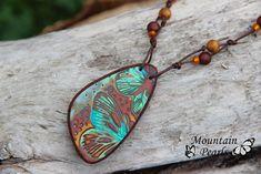 https://flic.kr/p/vLwLYf | Polymer clay necklace, Mountain Pearls by Nataša Hozjan Kutin | Mokume gane technique, Mountain Pearls by Nataša Hozjan Kutin