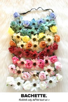 Add a fun feminine touch to your party with our flower headbands! Twin it up with matching colors, or let everyone choose their own style! Quality construction and elastic headband makes them comfortable enough to wear from mimosas to happy hour and all the way to last call👯🍹 Diy Baby Headbands, Diy Headband, Floral Headbands, Headband Pattern, Tissue Garland, Yes Way Rose, Bachelorette Party Themes, Making Hair Bows, Colorful Party
