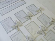 Laura  Craig - August 2010 Butterfly Wedding Table Plan from the Rhode Island collection http://www.weddingparaphernalia.co.uk/butterfly-wedding-table-plan.htm