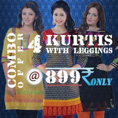 Click here for get this offer... http://gargfashion.com/Combo-Kurtis-c75.html