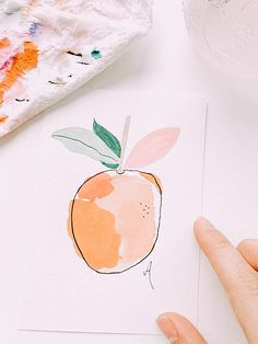 pic credit goes to leahxonicole ツ Watercolor Projects, Watercolor Paintings, Art Sketches, Art Drawings, Doodle Designs, Art Sketchbook, Diy Art, Art Inspo, Art Lessons