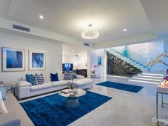 'azure' – World-Class Style in Paradise - 26 McAnally Drive, Sunshine Beach QLD 4567 - House Sold Dream House Interior, Dream Home Design, Home Interior Design, House Design, Decor Home Living Room, Bedroom Decor, Living Room Designs, First Apartment Decorating, Dream Rooms