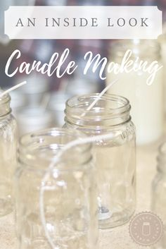Modern Farmhouse Home Decor - Learn all about candle making from the Antique Candle Works studio!  Handmade candles are an amazing craft for a small business! Beautiful Homemade Scented Soy Candle