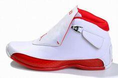 michael jordan air retro 18 white red sneakers