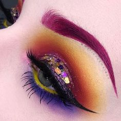 SUN☀️SHINE __________ BROWS : @limecrimemakeup Beet It velvetine _ EYES : @maccosmetics Primary Yellow pencil @makeupgeekcosmetics Plumeria pencil @nyxcosmetics Faux White pencil White smoke @katvondbeauty Pastel Goth palette Star, Meow & Dope   Alchemist palette Opal @shopvioletvoss Ride or Die palette Amy & Riley @tartecosmetics Clay paint liner @blackmooncosmetics Cosmic EyeDust Cosmos @glitopia Glitters @hello.beautylife Lena lashes __________ Add me INSTAGRAM   FACEBOOK   SN...