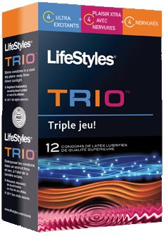 LifeStyles Trio Condoms in 12 Pack - Bed Time Toys Toy Store, Bedtime, Packing, Lifestyle, Toys, Gaming, Bag Packaging, Games