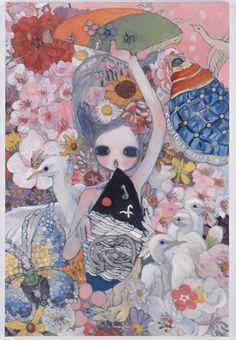 View Rising by Aya Takano on artnet. Browse upcoming and past auction lots by Aya Takano. Pretty Art, Cute Art, Colorful Drawings, Art Drawings, Aya Takano, Funky Art, Wow Art, Pics Art, Art Plastique