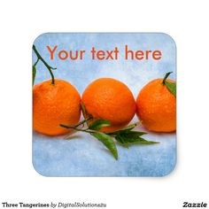 Three Tangerines Square Sticker