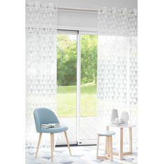 Rideau à œillets motifs triangles blancs 140 x 250 cm TRIX | Maisons du Monde