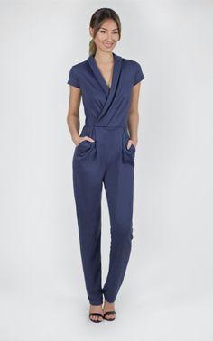 Spa Therapist Uniform. Luxury jersey jumpsuit- elegant and comfortable. #spa #uniform #standout