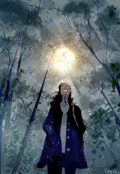 Me , myself and the rain, by PascalCampion.deviantart.com on @DeviantArt
