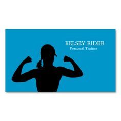 Personal Fitness Trainer Business Card Template. This great business card design is available for customization. All text style, colors, sizes can be modified to fit your needs. Just click the image to learn more!