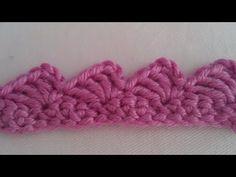 Crochet 101, Crochet Bebe, Knitting For Beginners, Learn To Crochet, Easy Crochet, Crochet Stitches, Free Crochet, Crochet Border Patterns, Knitting Patterns