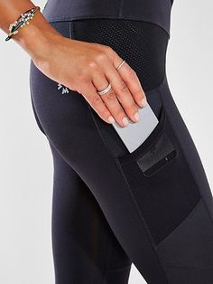 Running tights with pockets