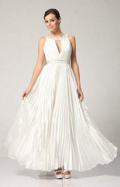 3071 WHITE RHINESTONE HALTER LONG GOWN EVENING « Dress Adds Everyday