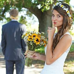 Spring Flower crown sunflowers Hair Wreath by BudgetWeddingBouquet