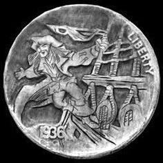 """Pirate by Jim Broyles Pirate Coins, Hobo Nickel, Coin Art, Old Coins, Small Stuff, Cool Stuff, Sailors, Sculpture Art, Pirates"