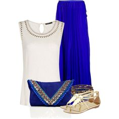 Maxi Skirt, created by spherus on Polyvore