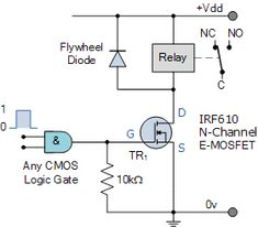 logic controlled relay switch circuit dc circuit, circuit diagram, cool  technology, electronics projects