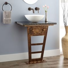Zhi+Wall-Mount+Console+Vanity+for+Vessel+Sink+ $ 465.00 master bathroom