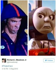 The 'Angry Michael Phelps' Meme Is The Best Thing In The #michaelphelps #michael #phelps #angry