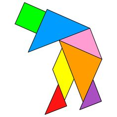Tangram Old man - Tangram solution #136 - Providing teachers and pupils with tangram puzzle activities