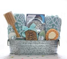 Graduation gift idea laundry kit with free printable gift tag gift basket idea has a shower theme and includes a luxurious shower head bath towels and other fun bath products and has a free printable gift tag negle Gallery